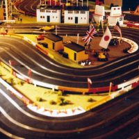 Scalextric model car racing