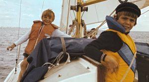 James (left) and Jason (right) onboard their Grandfathers Westerly Centaur. Circa 1982